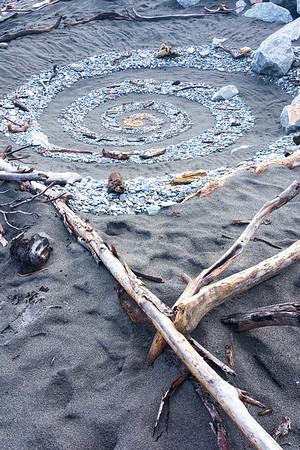 Hokitika Beach Driftwood Sculpture Festival