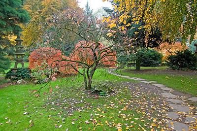 weg aus Steinplatten, Japanischer Garten Leverkusen