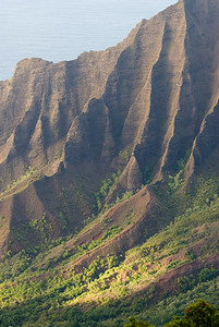 Erodierte Berghänge