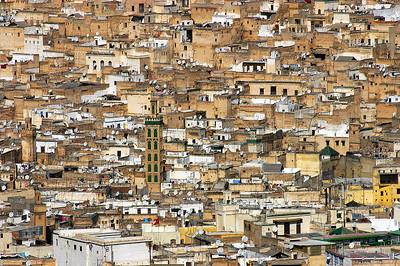 Marokko 2004 Fès Blick vom Bordj Sud