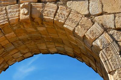 Marokko 2004, Volubilis, Römische Ausgrabungen, Triumphbogen