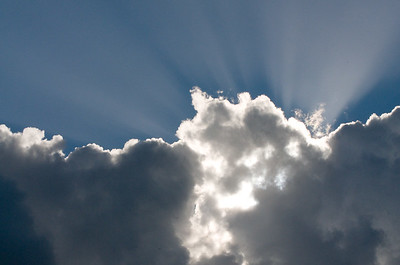 Wolken und darüber