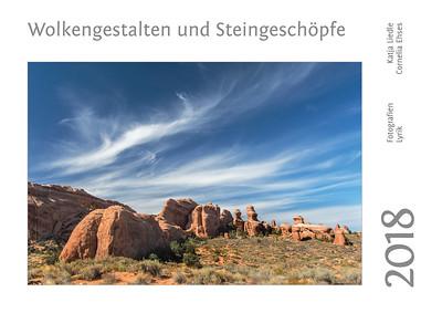 """Foto-Lyrik-Kalender 2018 """"Wolkengestalten und Steingeschöpfe"""""""