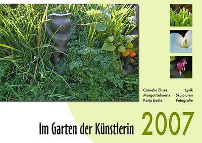 """Foto-Lyrik-Kalender 2007 """"Im Garten der Künstlerin"""""""