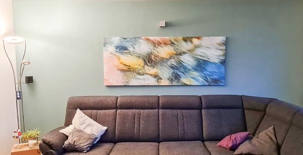 Wasserbild für die Wohnzimmerwand