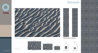 O Living Fototapete Odysseús, Sandmuster