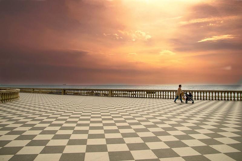 """© Emanuele Pagni Fotografer -Italien -Livorno """"Terrasse Mascagni - Sonnenuntergang"""""""