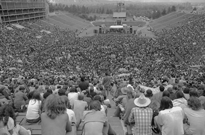 Grateful Dead Concert at Folsom Field in 1980.