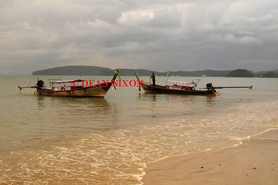 THAILAND. LONG TAIL BOATS AT AO NANG - 0390