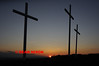EASTER CROSSES AT SUNSET (PARKHALL) - 0364