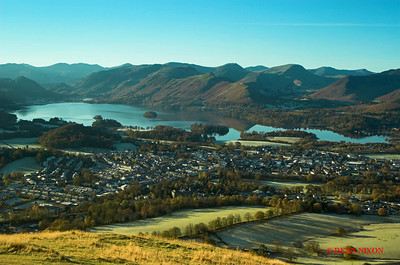 KESWICK AND DERWENTWATER AT DAWN FROM LATRIGG 0157