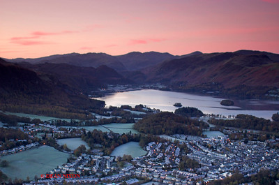KESWICK AND DERWENTWATER AT DAWN FROM LATRIGG 0150