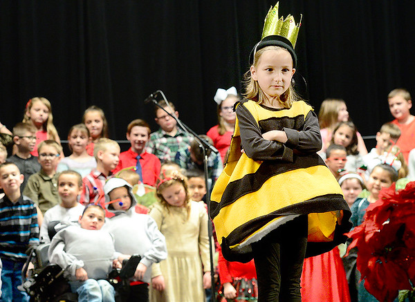 Kevin Harvison | Staff photo<br /> Will Rogers Elementary students performs in A Bugz Christmas Thursday night at S. Arch Thompson Auditorium.