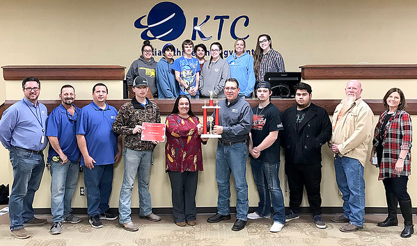 KEVIN HARVISON | Staff photo Kiamichi Technology Center won the McAlester 2018 Christmas Parade Large Organization Category.