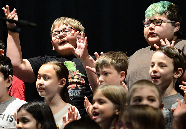 KEVIN HARVISON | Staff photo<br /> McAlester second graders are pictured  performing recently at S. Arch Thompson Auditorium. McAlester Public Schools are scheduled to be back in session January 3, 2019.