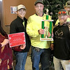 KEVIN HARVISON | Staff photo<br /> McAlester Parks Department was the winner of the McAlester Christmas Parade Non Profit Category. Pictured from left, Christine Hermsmeyer, Executive Director McAlester Main Street, Athiel Cozad, grounds keeper, Robbie Patton, head gardener, Lewis Beason, grounds Keeper and Cody Conner, grounds keeper.