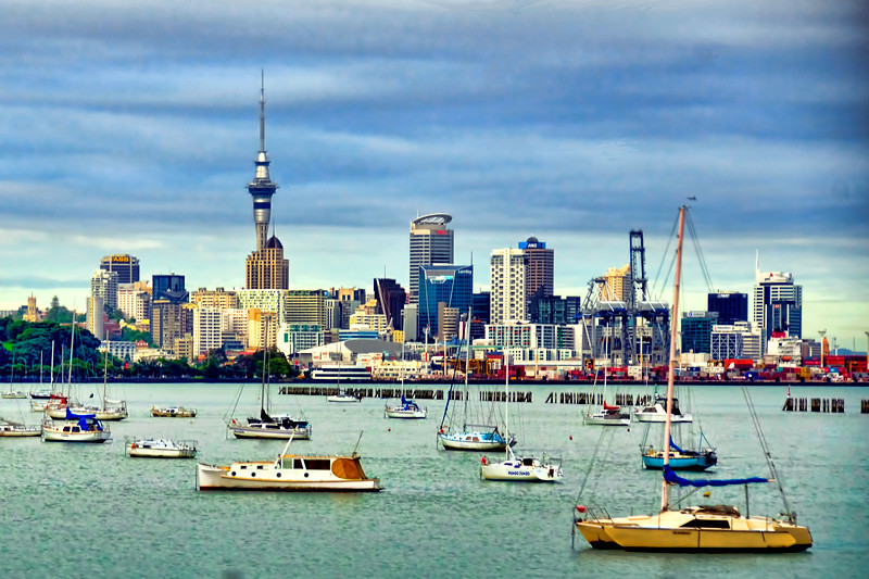 A morning view of Auckland, New Zealand.