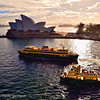 This photo of the Sydney Opera House was taken at sunrise of a cloudy morning while on the deck of our ship.