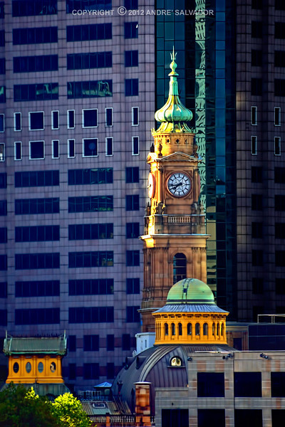 The historic Sydney Post Office Clock Tower at downtown Sydney.