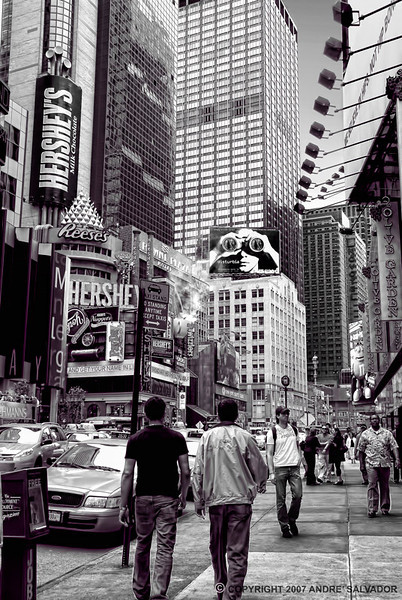 Hustle and bustle of New York street.
