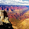 The grandeur of the Grand Canyon looking from the south side, Arizona, USA.