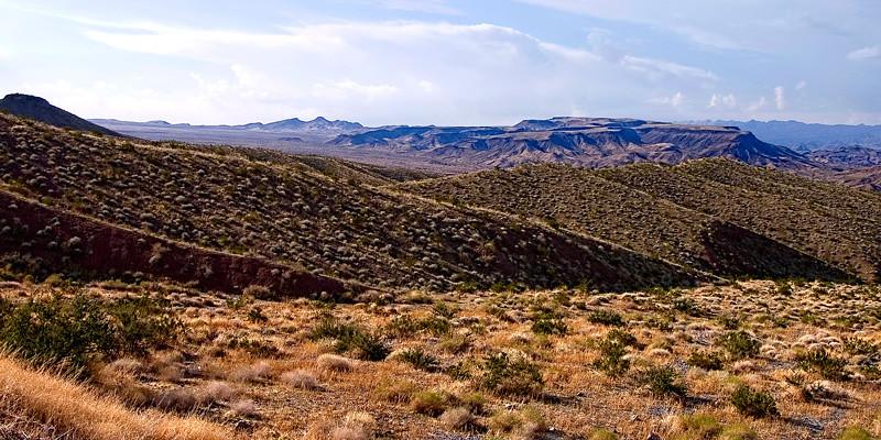 The desert landscape of Tehachapi mountains, California, USA.