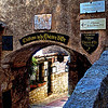 The archway that leads to the midieval village of Eze, France.