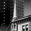 A corner spire, Manhattan, NY.
