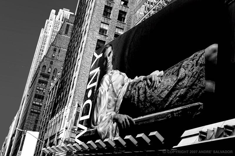 WD Clothing New York Billboard captured in Manhattan, New York.