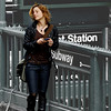 I saw her standing by the subway entrance checking her cell phone. I aimed my camera at her, she saw me, she then tilted her head like a model. That is a New Yorker for you.