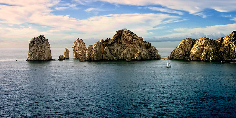 A view of land's end in Baja, Mexico.