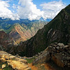 "A view at the top of the ""old Peak"" in Macchu Picchu, Peru. From here you can see unique views of the Andes and the Urubamba jungle below."