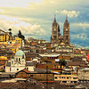 A view of the hilly city of Quito, Ecuador.