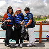 Kim, Jackie and Beth at San Cristobal Island, Galapagos island group, Ecuador.