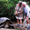 The tortoises at San Cristobal Island have ages at more than 100 years old. Glapagos Island Group, Ecuador.