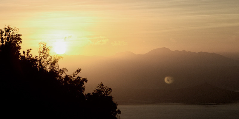 Sunrise at Tagaytay mountain ridge, Tagaytay City, Philippines.