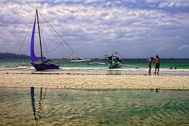 White Sand Beach at Boracay Island, Aklan Province, Philippines.
