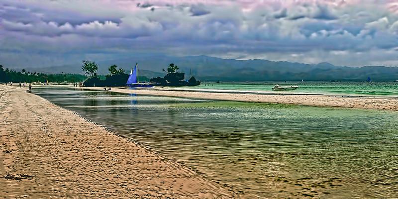 White Sand Beach at Boracay Island, Aklan Province, Philippines.
