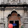 The side entrance to Santo Nino Church in Cebu, Philippines.