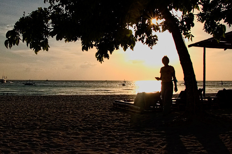 Sunset at White Sands beach, Boracay Island, Aklan Province, Philippines. Yes....almost every  year I visit this place.