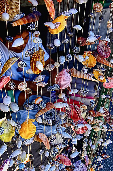 A screen made of shells in Mactan Island, Cebu, Philippines.