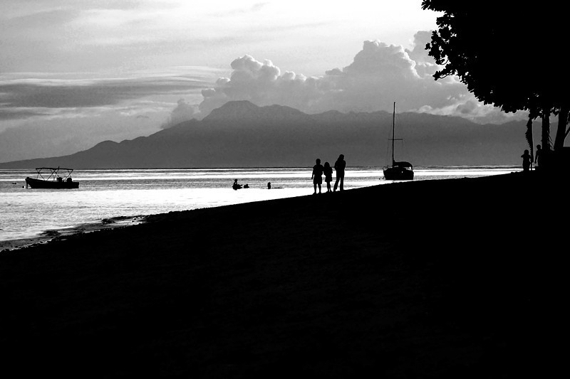 A leisurely stroll after the day is done. Photo taken in Bohol Beach Club, Bohol Island, Philippines.