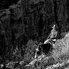 Riding up to the Grand Canyon's south rim, Arizona, USA.