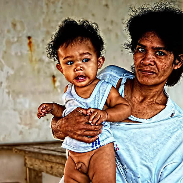 """""""Mother and Child"""" - Photo taken in Calayo Village, Batangas, Philippines."""