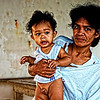 """Mother and Child"" - Photo taken in Calayo Village, Batangas, Philippines."
