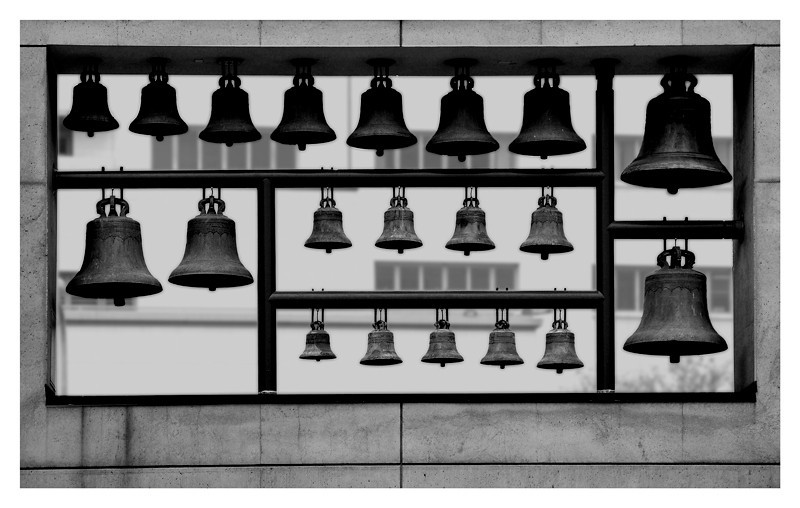 Church bells of Los Angeles cathedral, L.A. California