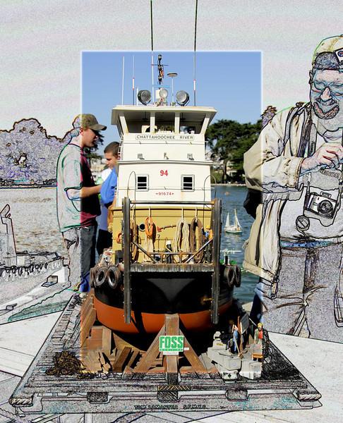 San Francisco Model Boat racing and exhibition at San Francisco Golden gate Park, California.