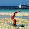 Low tide at White Sands Beach, Boracay Island, Aklan Province, Philippines.