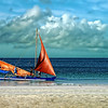 Late morning at White Sands Beach, Boracay Island, Aklan Province, Philippines.