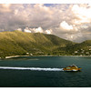 A view of the mountains of Tortola, British Virgin Island.